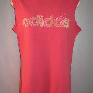 Adidas Pink Cotton Sleeveless T Shirt S